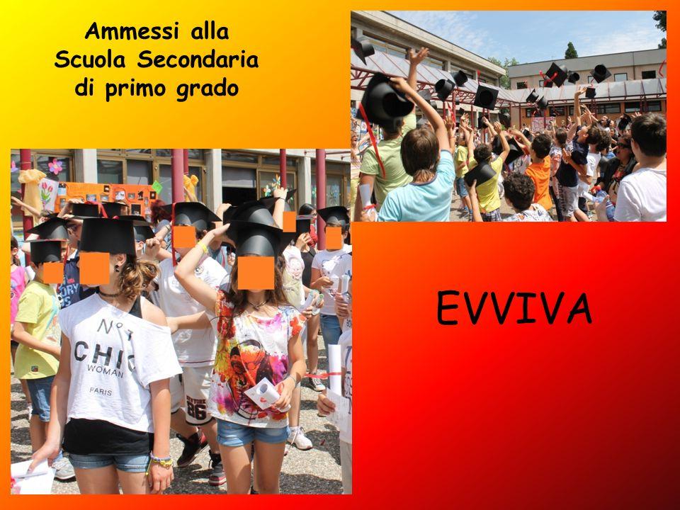 Ammessi alla Scuola Secondaria di primo grado EVVIVA