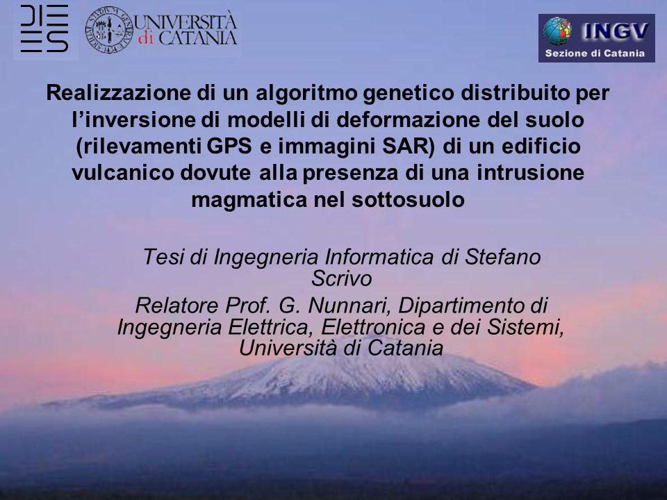 Realizzazione di un algoritmo genetico distribuito per l'inversione di modelli di deformazione del suolo (rilevamenti GPS e immagini SAR) di un edific