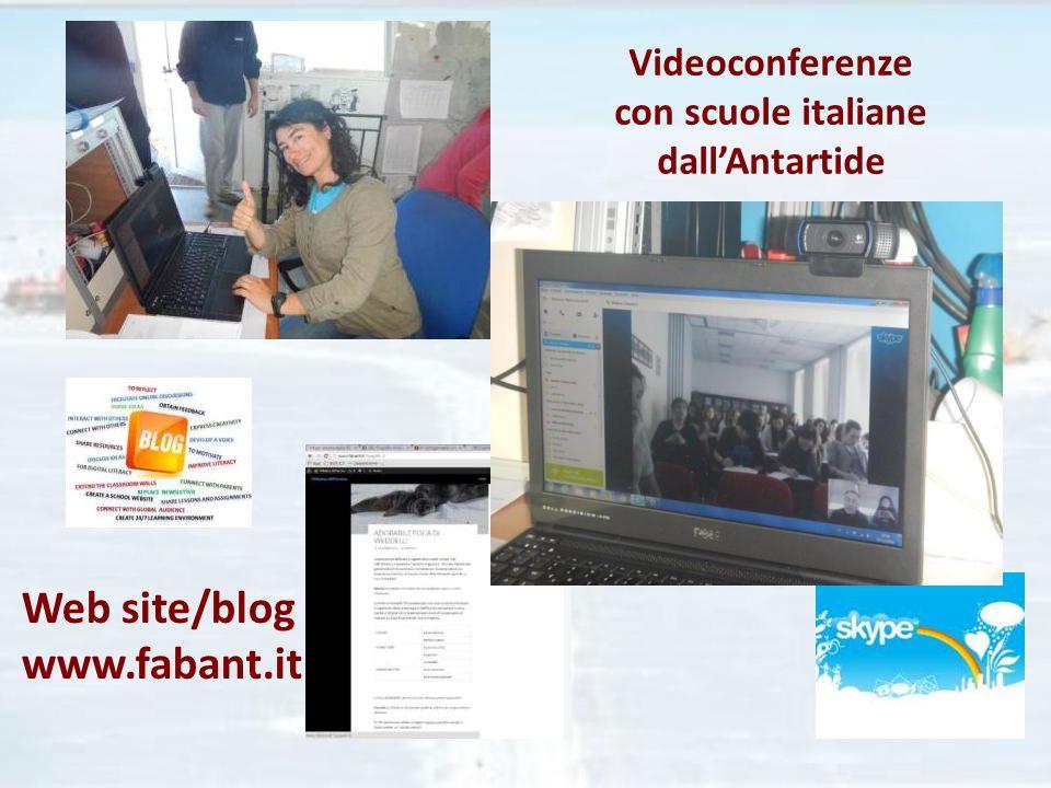 Videoconferenze con scuole italiane dall'Antartide Web site/blog www.fabant.it