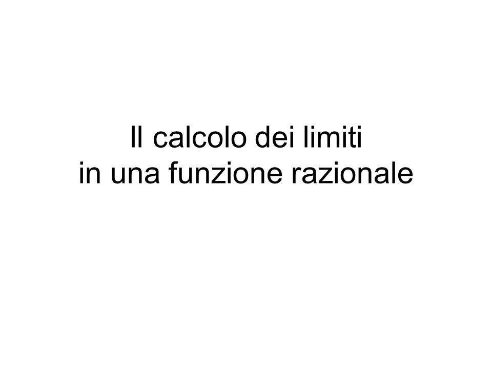 Il calcolo dei limiti in una funzione razionale