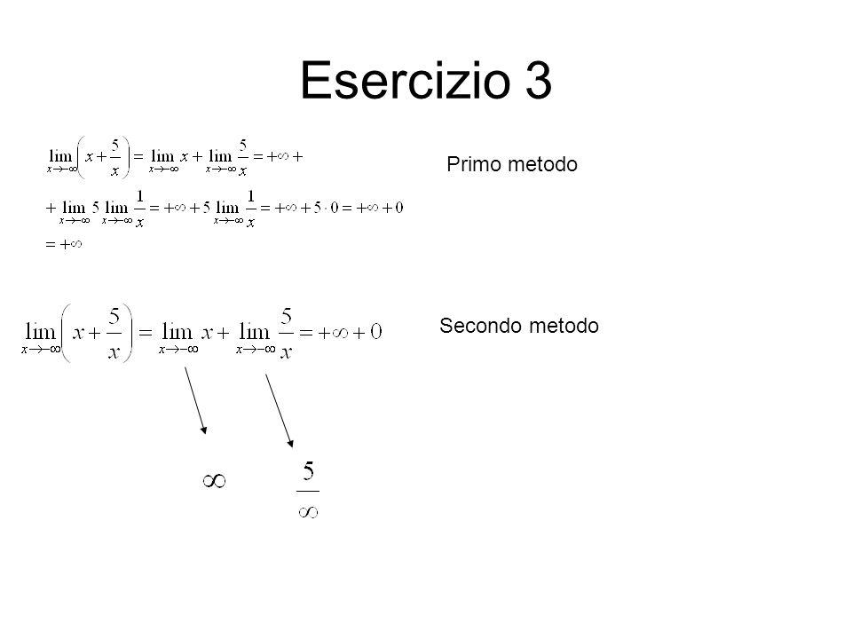 Esercizio 3 Primo metodo Secondo metodo