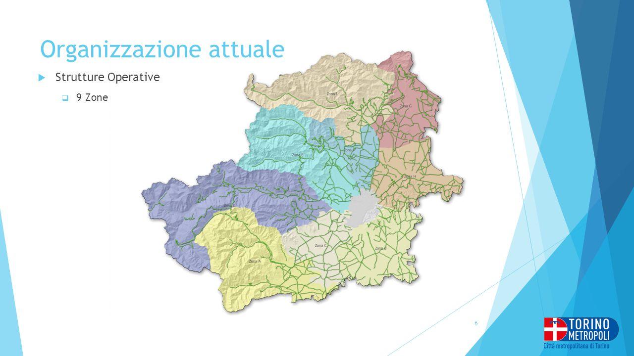 Organizzazione attuale  Strutture Operative  9 Zone 6