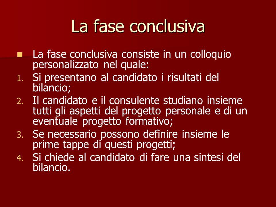 La fase investigativa La fase investigativa ha come scopo l ' analisi delle motivazioni del candidato, sia professionali che personali. Ciò permette d