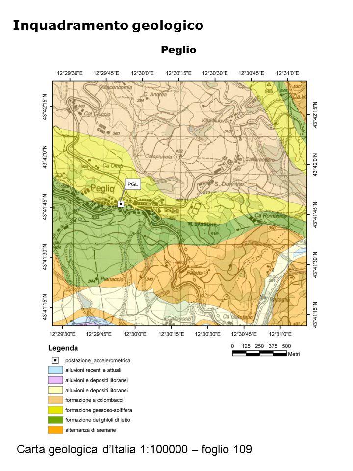 Inquadramento geologico Carta geologica d'Italia 1:100000 – foglio 109