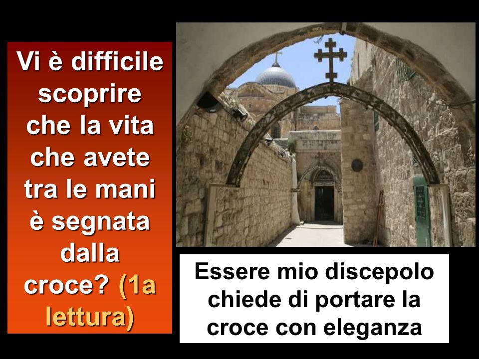 Colui che non porta la propria croce e non viene dietro a me, non può essere mio discepolo.