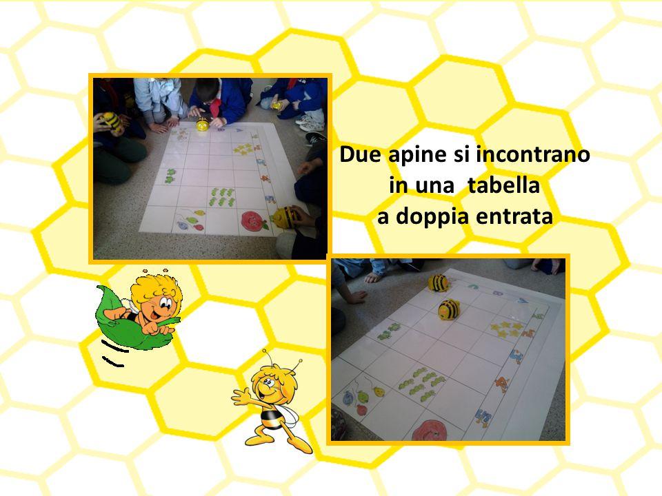 Due apine si incontrano in una tabella a doppia entrata