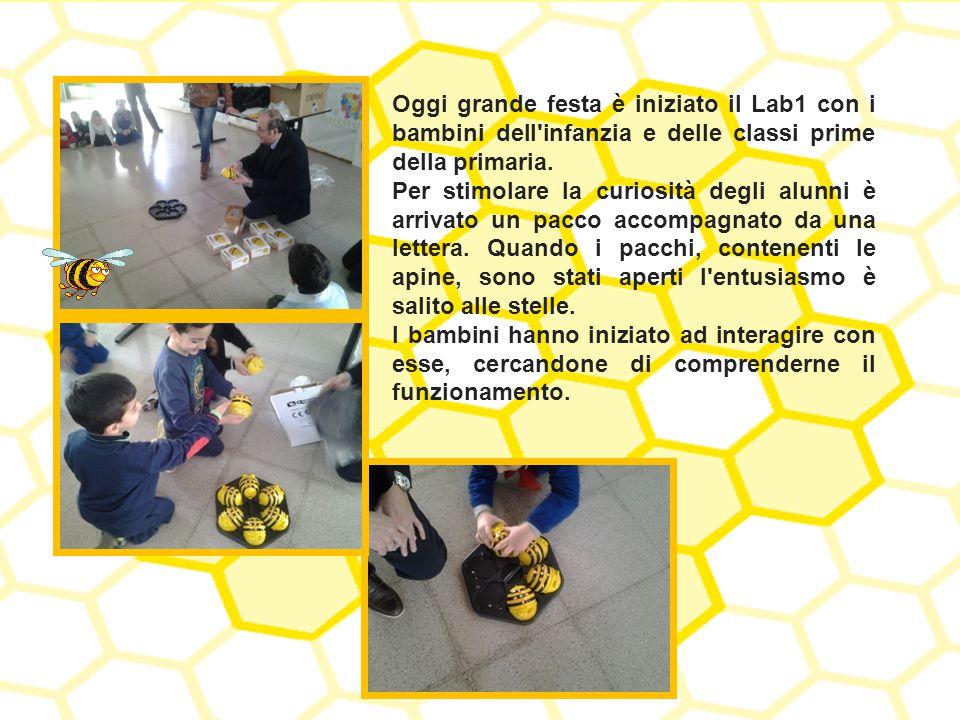 Oggi grande festa è iniziato il Lab1 con i bambini dell'infanzia e delle classi prime della primaria. Per stimolare la curiosità degli alunni è arriva