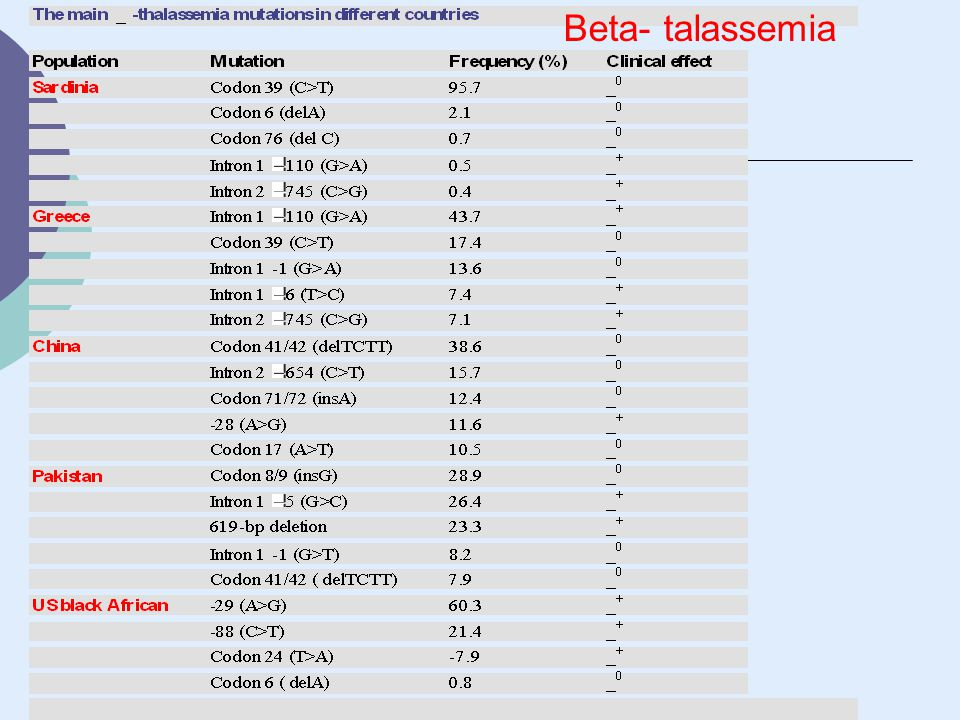 Beta- talassemia