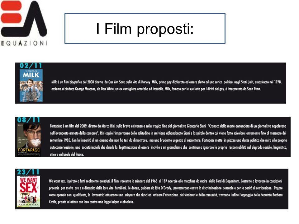 I Film proposti: