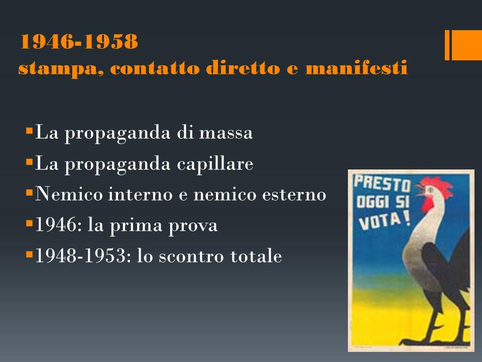 1954-1968: la televisione avanza  La Televisione: una rivoluzione  Il difficile approdo al centro-sinistra  La normalizzazione del sistema  Venti di bufera e di contestazione