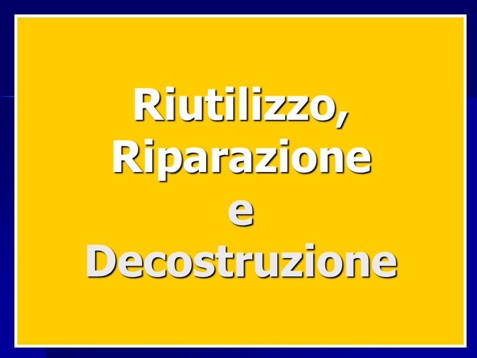 Riutilizzo,RiparazioneeDecostruzione
