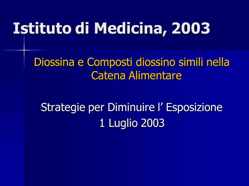 Istituto di Medicina, 2003 Diossina e Composti diossino simili nella Catena Alimentare Strategie per Diminuire l' Esposizione 1 Luglio 2003