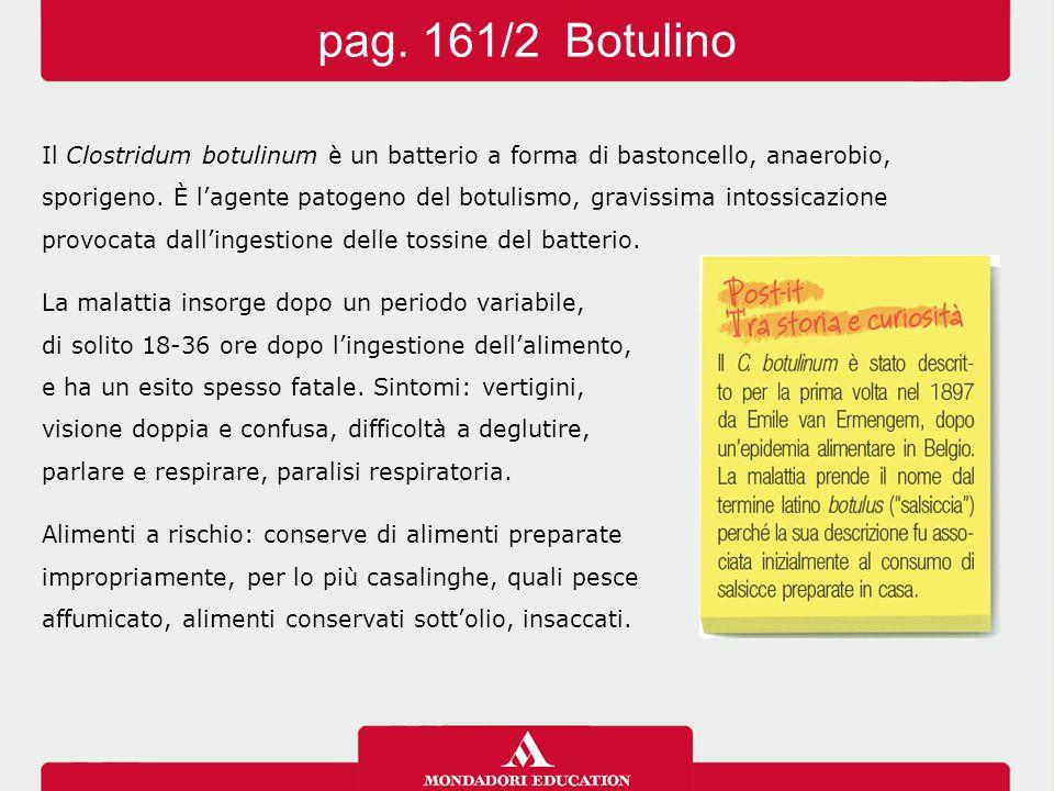 Il Clostridum botulinum è un batterio a forma di bastoncello, anaerobio, sporigeno. È l'agente patogeno del botulismo, gravissima intossicazione provo