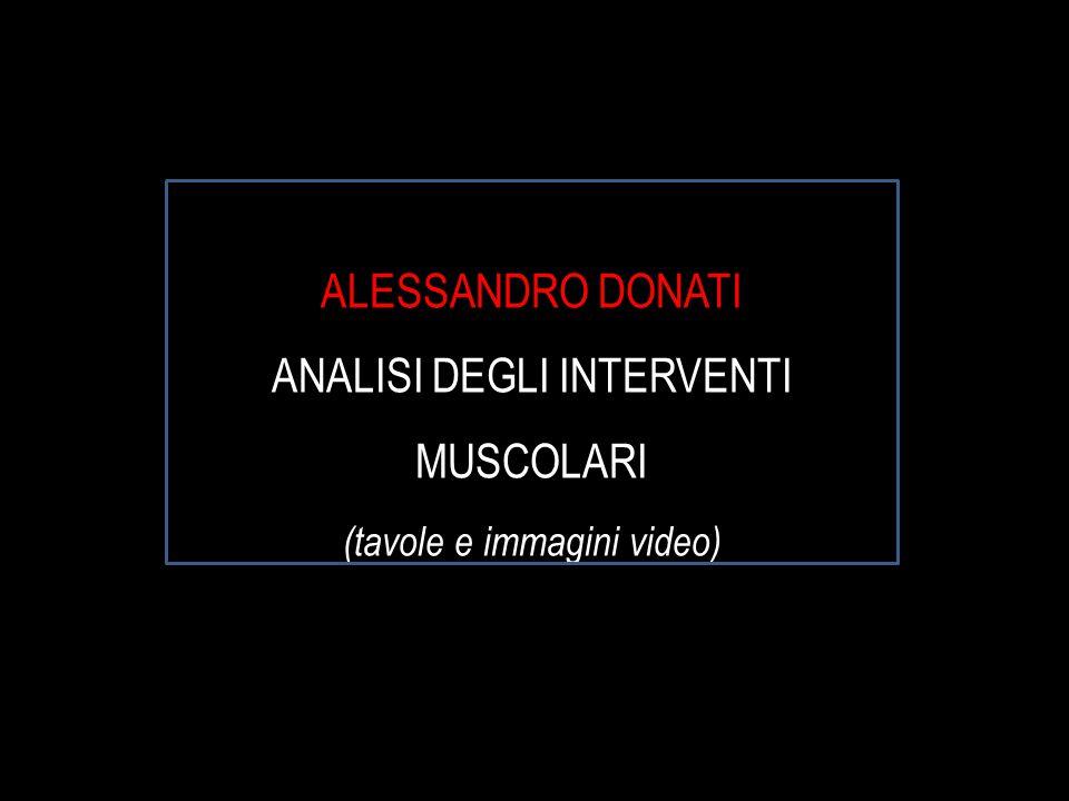 ALESSANDRO DONATI ANALISI DEGLI INTERVENTI MUSCOLARI (tavole e immagini video)