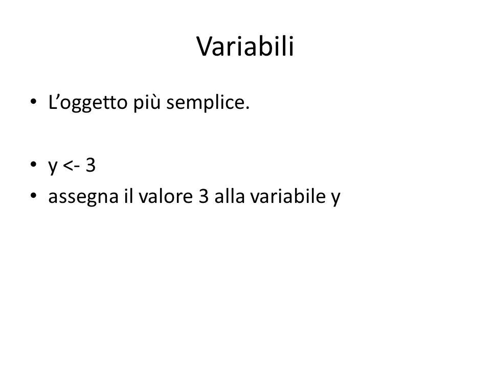 Calcoli con le variabili operazioni algebriche si eseguono utilizzando i normali operatori (+, -, *, /).