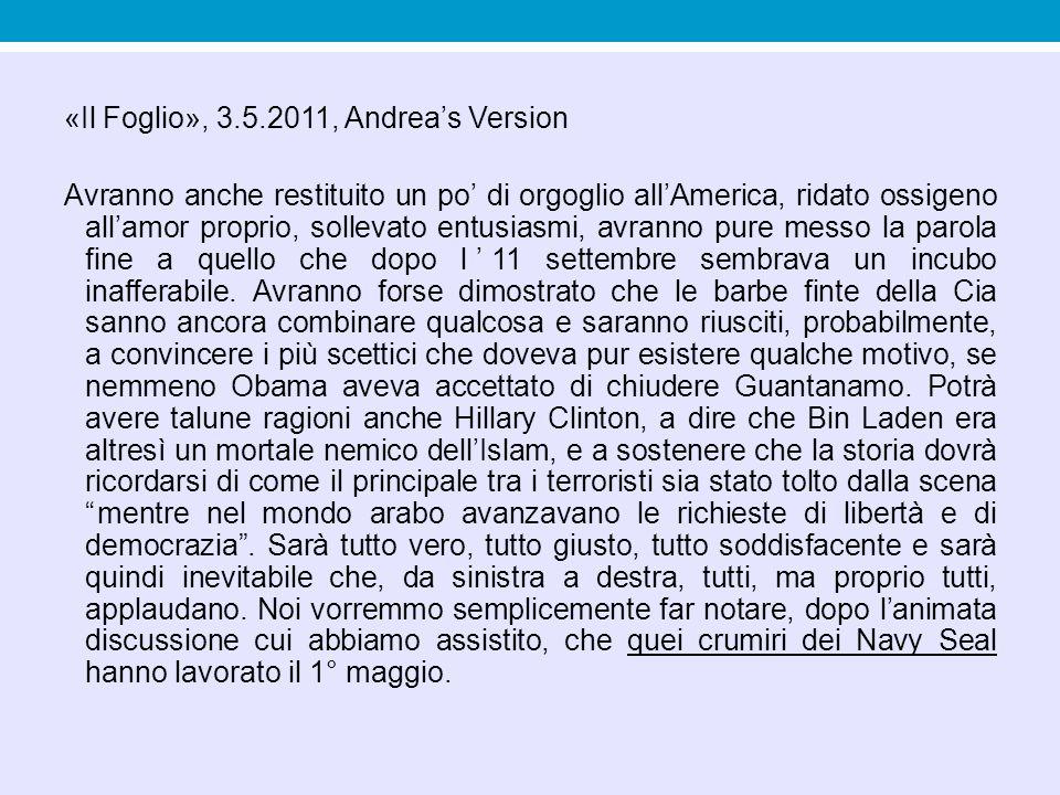 S.Rodotà, RE, 27.4.2011 Sia lode al presidente del Consiglio.