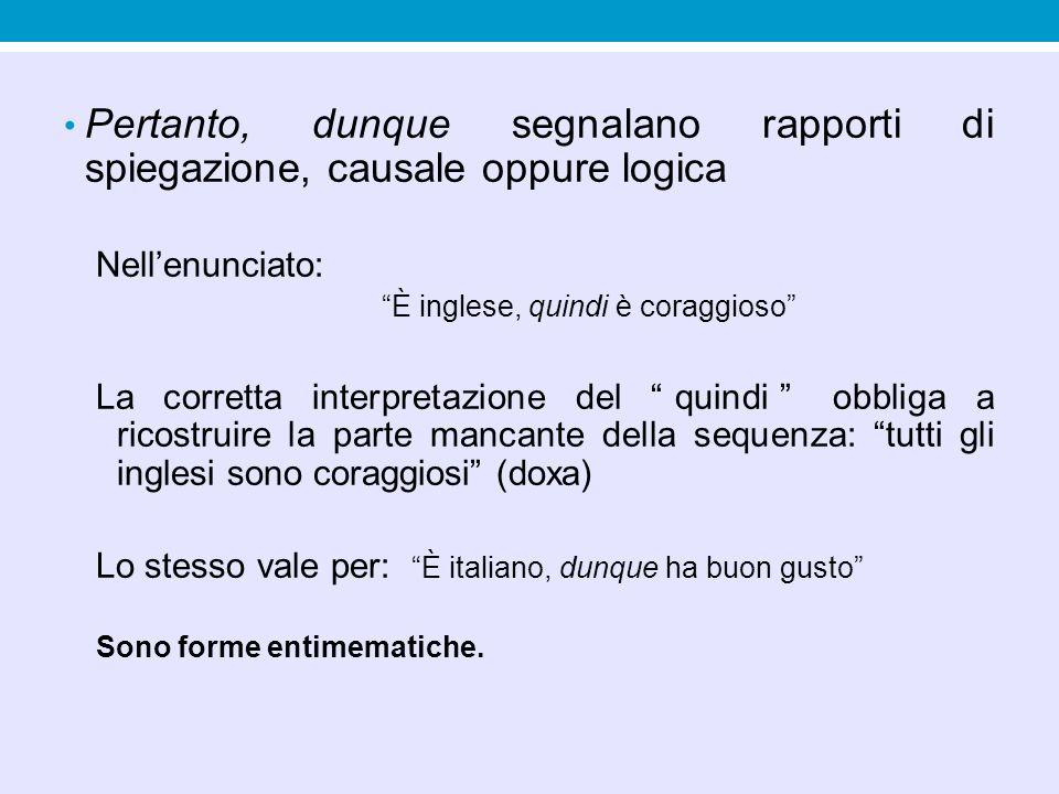 Rapporti di obiezione e di contrapposizione Ma con funzione controargomentativa (Ducrot 1972): ciò che viene dopo il ma viene ritenuto in contrasto con quanto viene prima.