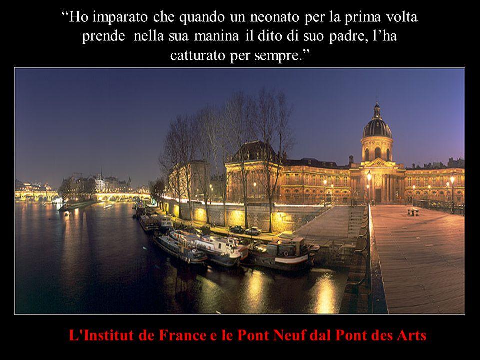 L Institut de France Ho tanto imparato da voi, uomini...