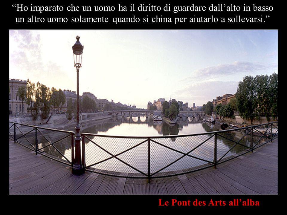 L Institut de France e le Pont Neuf dal Pont des Arts Ho imparato che quando un neonato per la prima volta prende nella sua manina il dito di suo padre, l'ha catturato per sempre.