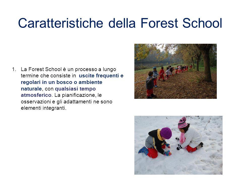 1. 1.La Forest School è un processo a lungo termine che consiste in uscite frequenti e regolari in un bosco o ambiente naturale, con qualsiasi tempo a