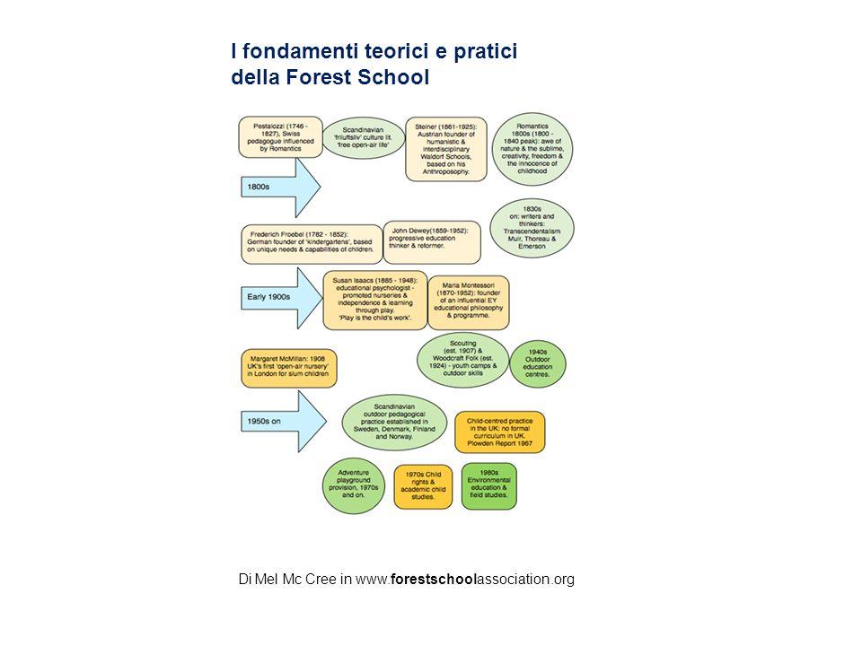 I fondamenti teorici e pratici della Forest School Di Mel Mc Cree in www.forestschoolassociation.org