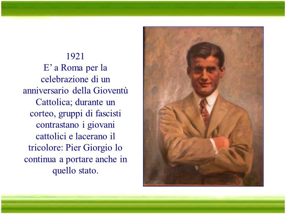 1920 Sceglie la facoltà di Ingegneria. Si iscrive e partecipa attivamente alla federazione degli universitari cattolici. Rimane comunque legato alla G