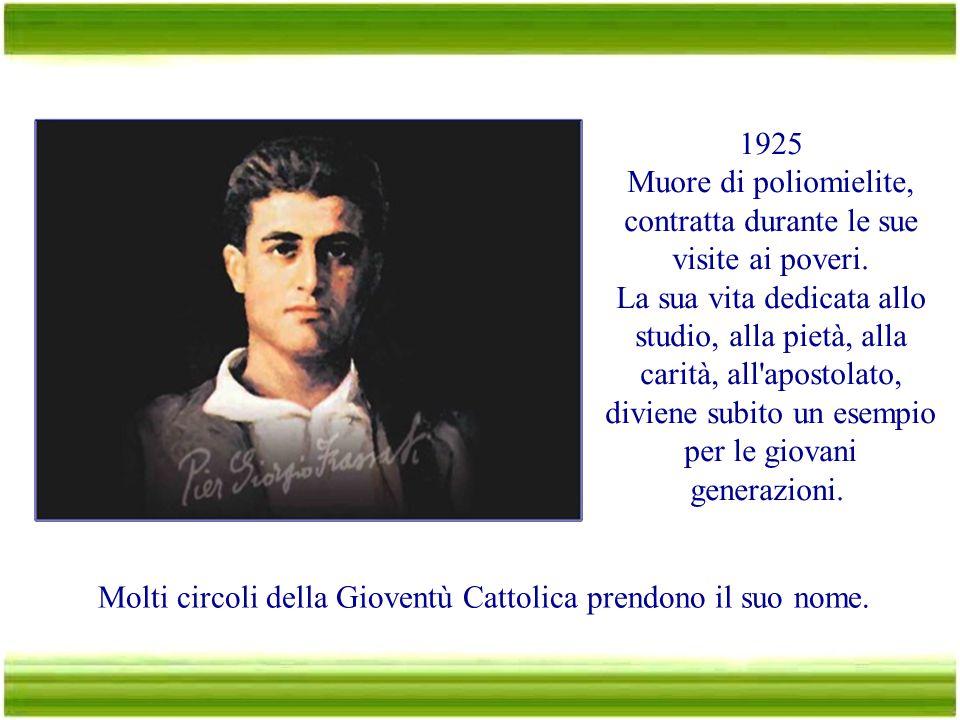1921 E' a Roma per la celebrazione di un anniversario della Gioventù Cattolica; durante un corteo, gruppi di fascisti contrastano i giovani cattolici