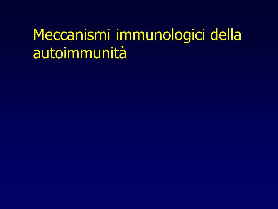 Meccanismi immunologici della autoimmunità