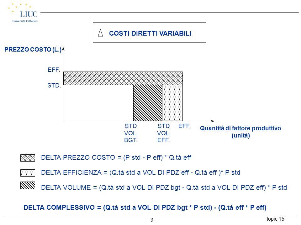 topic 15 4 COSTI FISSI (L.) TOTALI EFF.L. 81.000.000 TOTALI BGT.