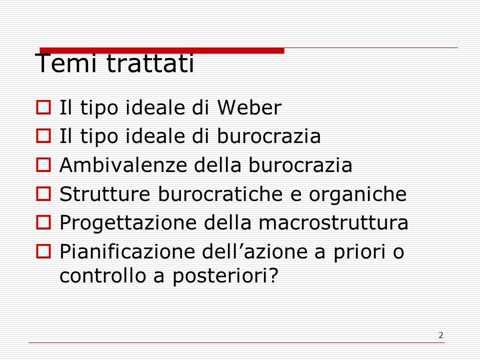 3 Prima di proseguire con Mintzberg  Che cos'è un tipo ideale secondo Weber?