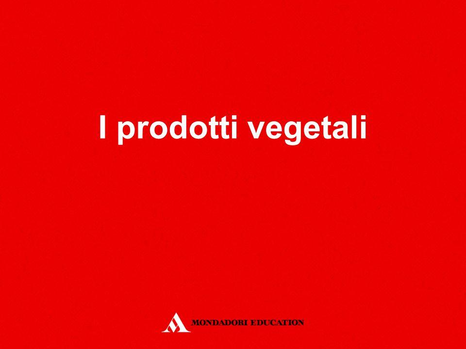 I prodotti vegetali