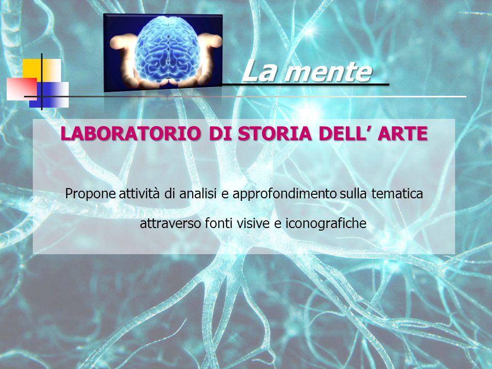 La mente LABORATORIO DI STORIA DELL' ARTE Propone attività di analisi e approfondimento sulla tematica attraverso fonti visive e iconografiche