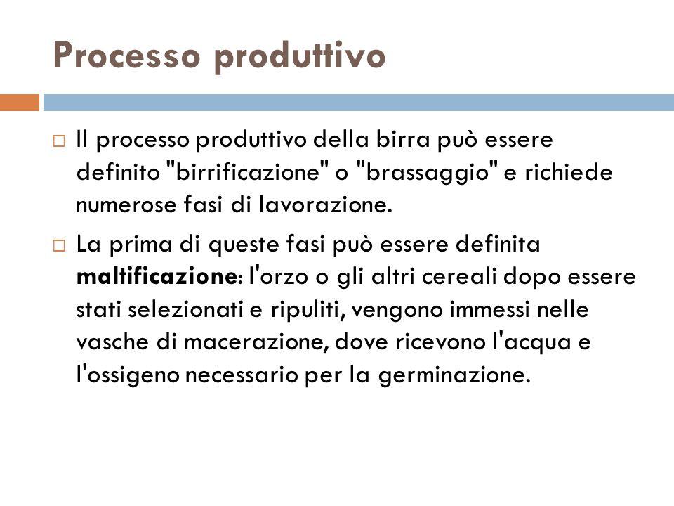 Processo produttivo  Il processo produttivo della birra può essere definito