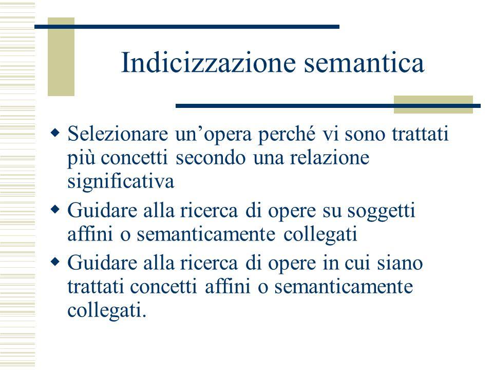 Il Soggettario di Firenze  In altri casi evidenziano concetti espressi con termini che possono essere utilizzati sia nelle voci di soggetto che nelle suddivisioni, indicando e precisando le situazioni in cui tale utilizzo si concretizza.