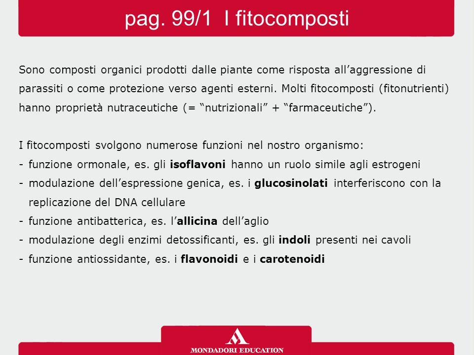 Sono composti organici prodotti dalle piante come risposta all'aggressione di parassiti o come protezione verso agenti esterni. Molti fitocomposti (fi