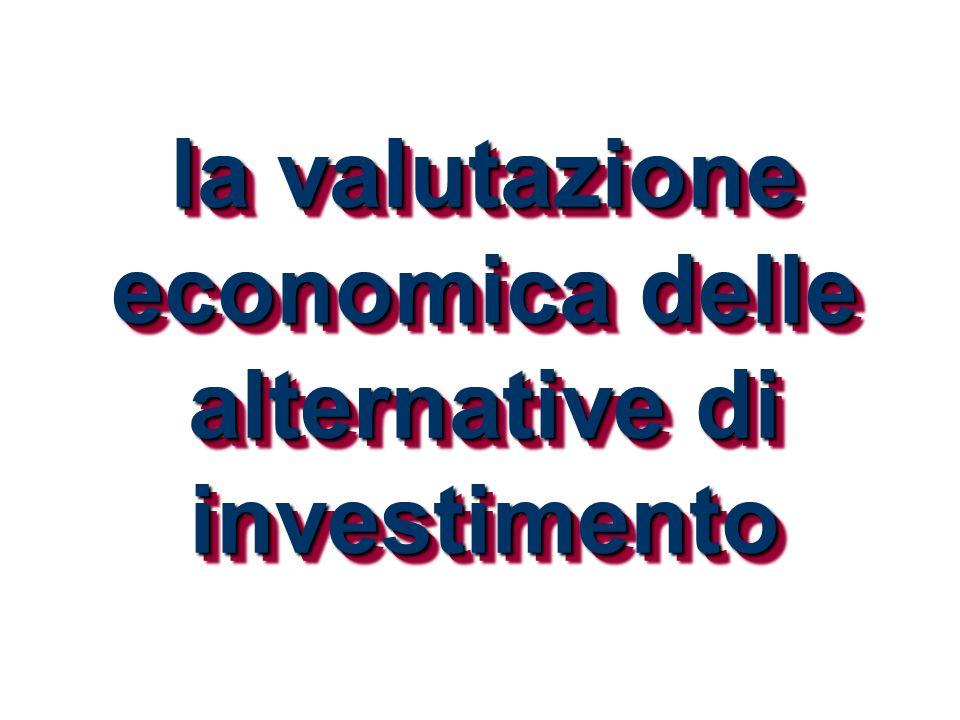 la valutazione economica delle alternative di investimento