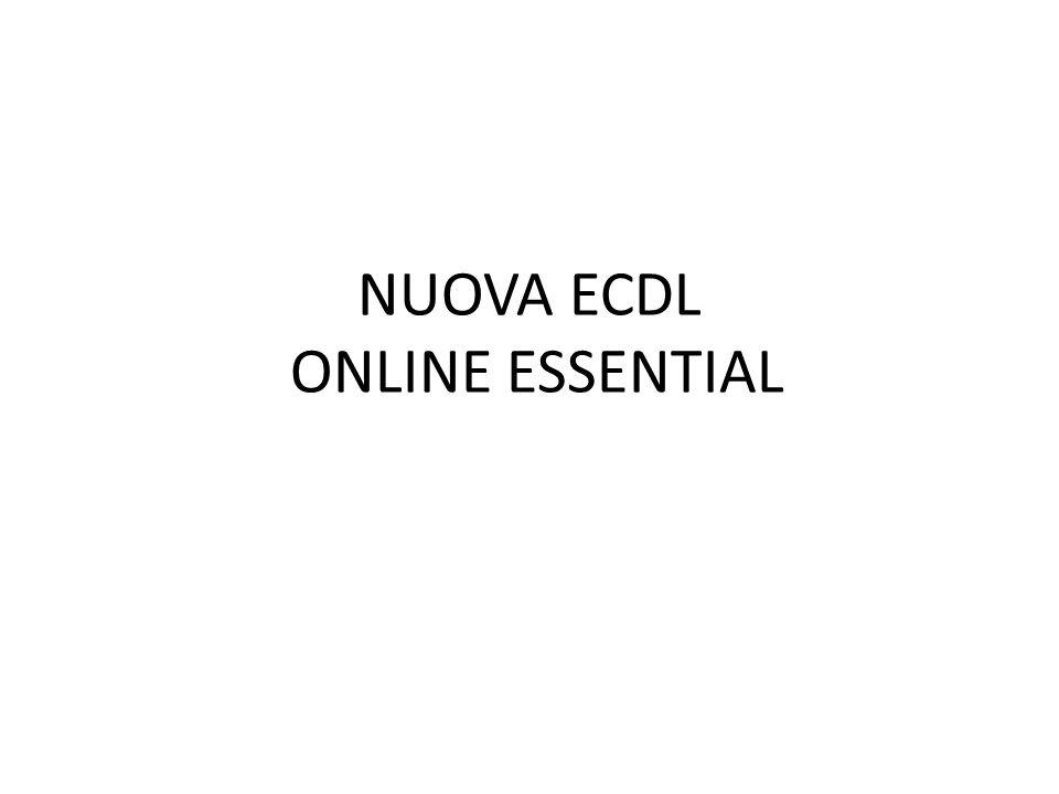 NUOVA ECDL ONLINE ESSENTIAL