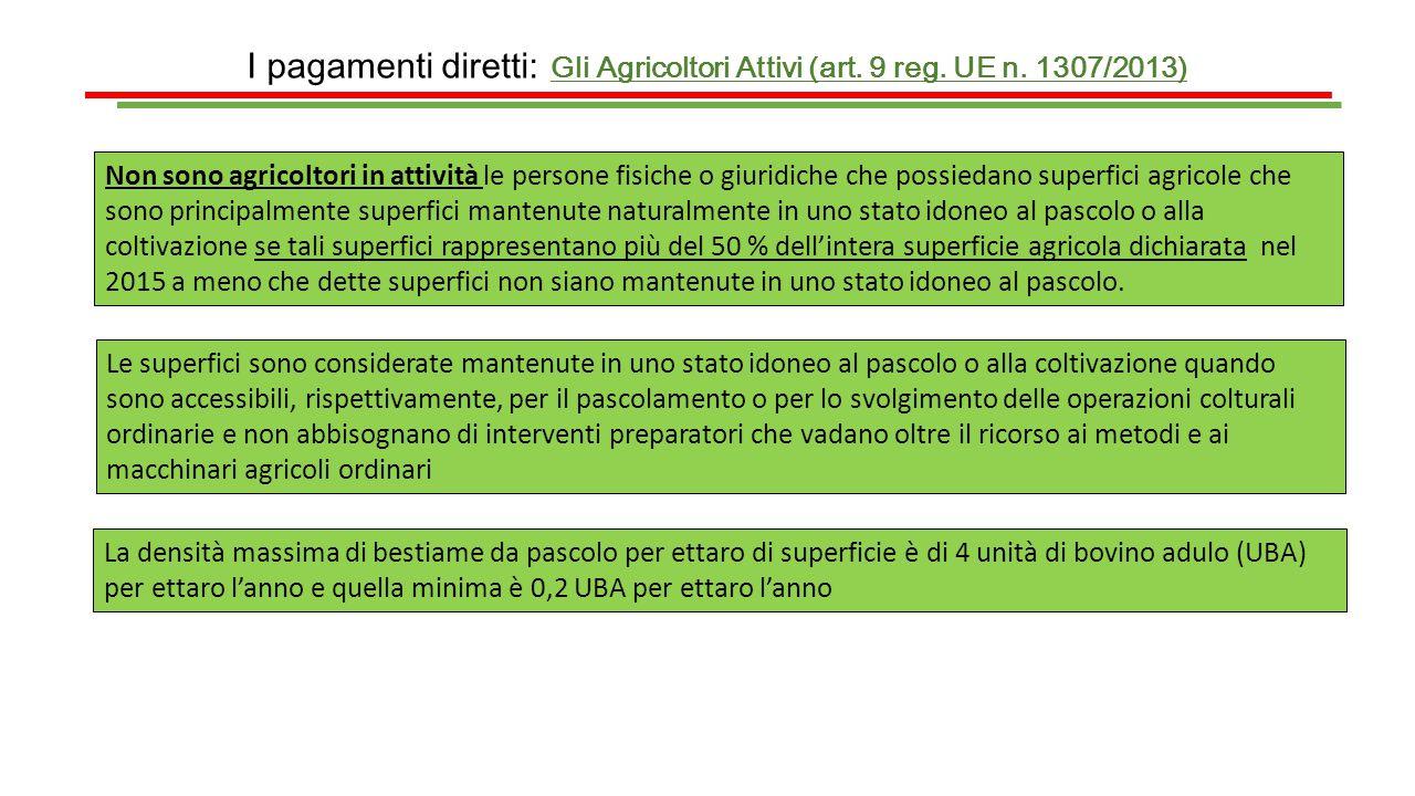 I pagamenti diretti: La componente greening IL RISPETTO DELL'AVVICENDAMENTO 2014 EX ART.