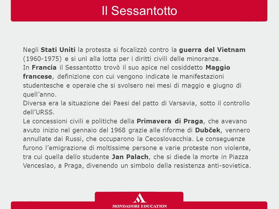 Il Sessantotto IL SESSANTOTTO NELLA MUSICA Verso la fine degli anni Sessanta, anche la musica visse grandi mutamenti.