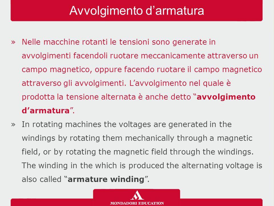 »Nelle macchine rotanti le tensioni sono generate in avvolgimenti facendoli ruotare meccanicamente attraverso un campo magnetico, oppure facendo ruota