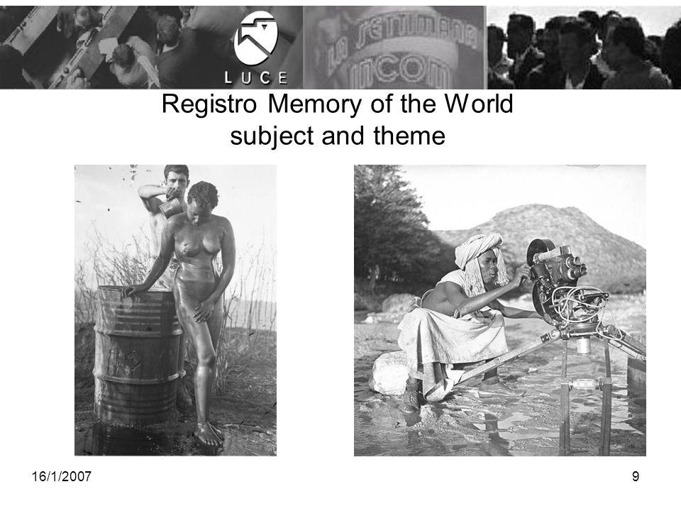 201510 Archiviazione e catalogazione Fotografico L'applicativo consente la gestione di singole immagini e di collezioni fotografiche per ogni tipologia di supporto fisico (foto, dagherrotipo, immagine digitale, etc).