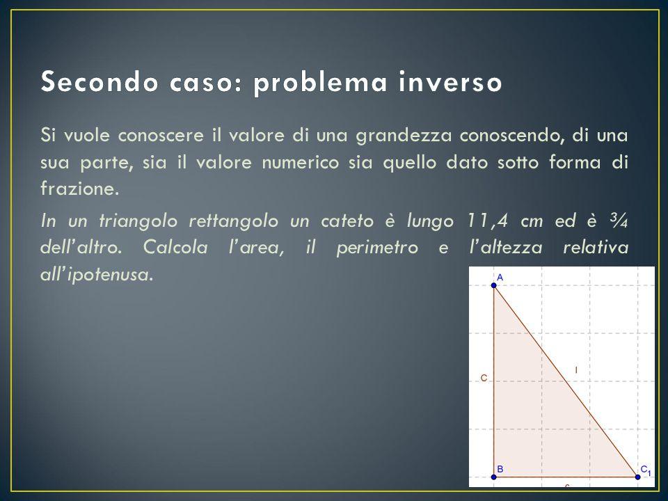 Data la somma di due quantità e sapendo che una è una certa frazione dell'altra, si vuole calcolare il valore delle due quantità.