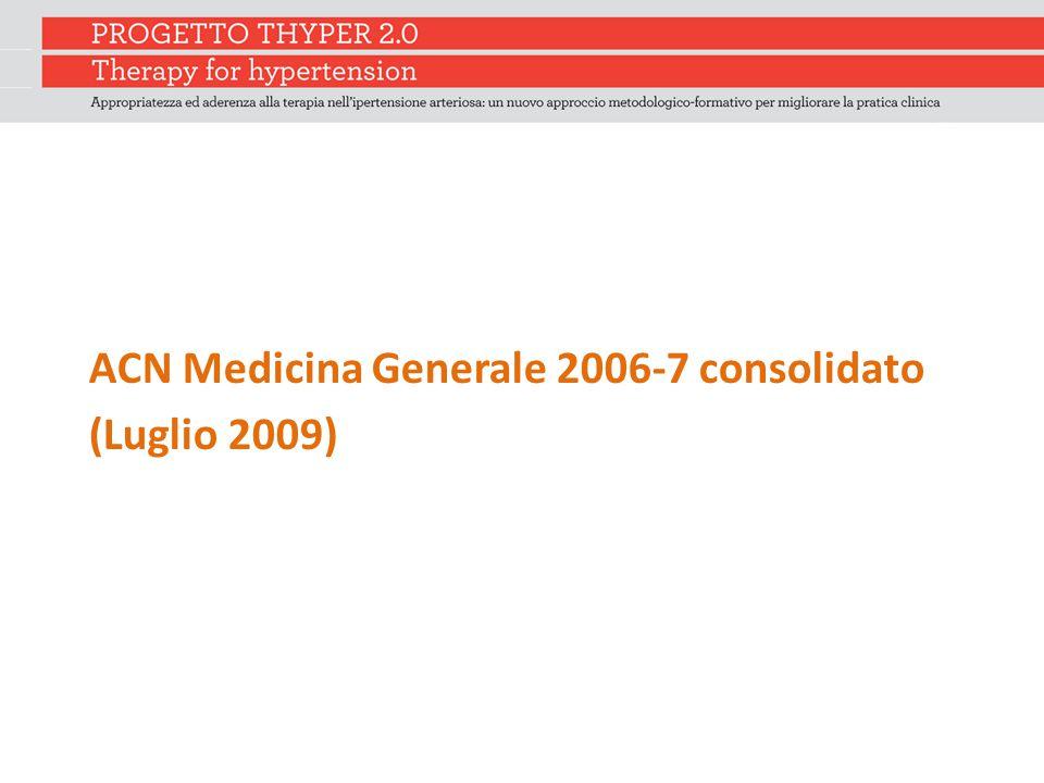 ACN Medicina Generale 2006-7 consolidato (Luglio 2009)