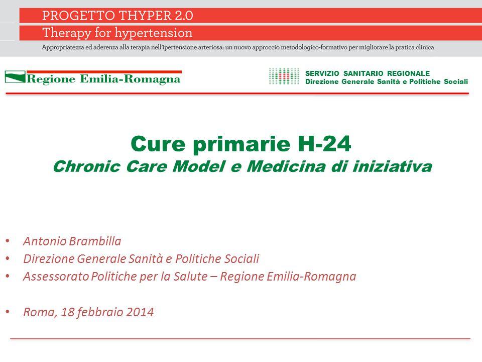 Cure primarie H-24 Chronic Care Model e Medicina di iniziativa Antonio Brambilla Direzione Generale Sanità e Politiche Sociali Assessorato Politiche p