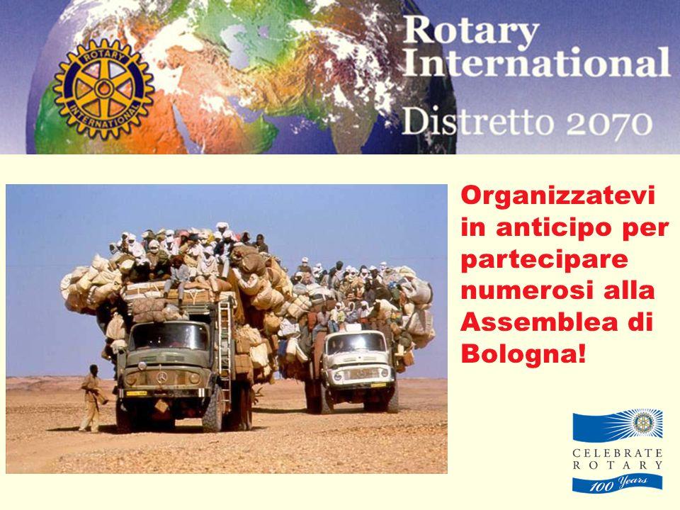 Organizzatevi in anticipo per partecipare numerosi alla Assemblea di Bologna!