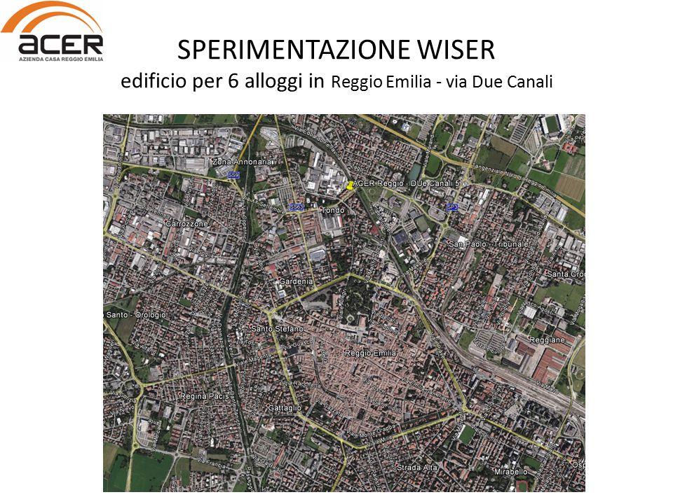 SPERIMENTAZIONE WISER edificio per 6 alloggi in Reggio Emilia - via Due Canali