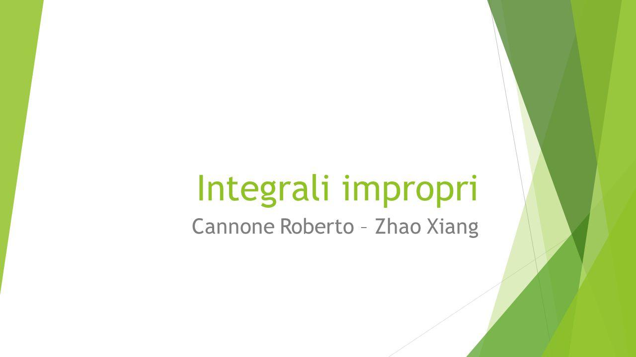 Integrali impropri Cannone Roberto – Zhao Xiang