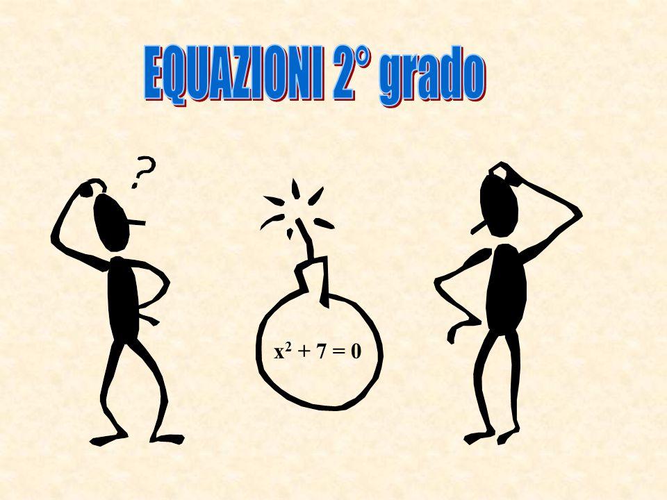 x 2 + 7 = 0