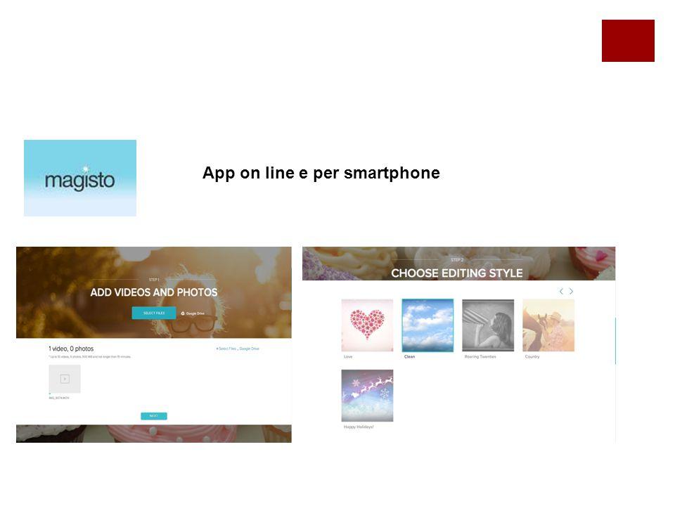 App on line e per smartphone