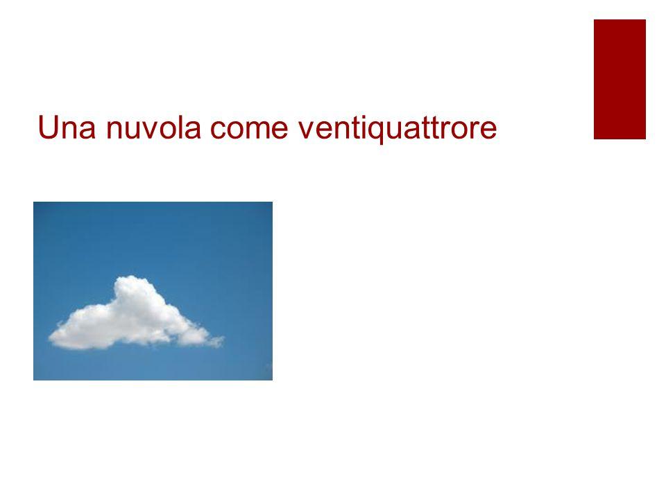 Una nuvola come ventiquattrore